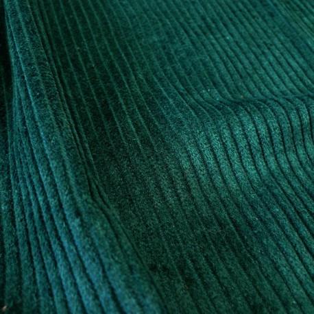 Tissu velours Cotton émeraude