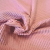 Tissu velours Cotton rose