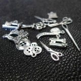 Lot de 12 Charms Couture