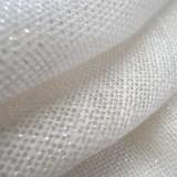 Toile de jute LUREX Argent - blanc