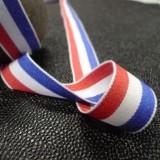 Ruban coton tricolore français 25 mm