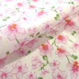 Tissu Bouquet rose