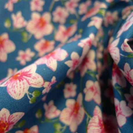 Tissu Bouquet canard