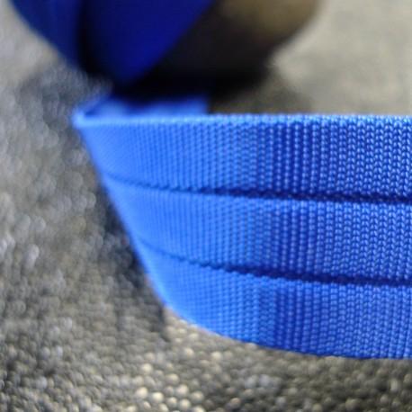 Sangle 3D gros grain bleu roi