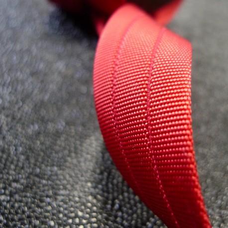 Sangle 3D gros grain rouge