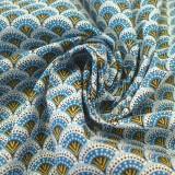 Tissu Wazabi turquoise