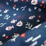 Tissu Little Fishes Marine