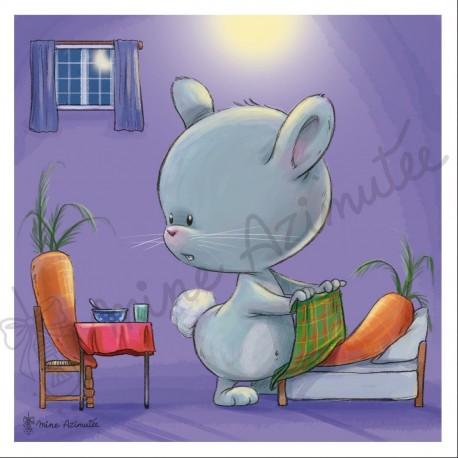 Coupon illustré Bébé lapin