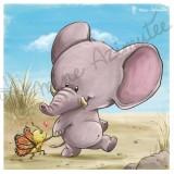 Coupon illustré Bébé Elephant