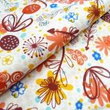 Coton Flower Doodles moutarde
