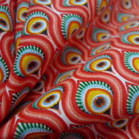 Tissu Peacock rouge