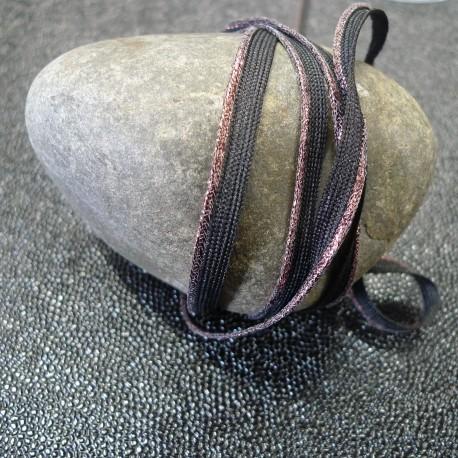 Passepoil tissé bronze noir