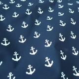 Enduit coton Ancre navy