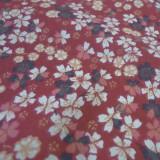 Tissu Kobe Sakura bordeaux