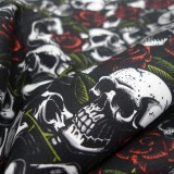 Coton Skulls with roses