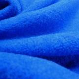Tissu laine bouillie bleu roi