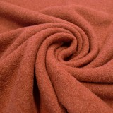 Tissu laine bouillie tomette