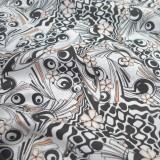 Tissu coton Biopic rose