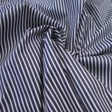 Enduit coton rayé navy