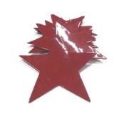 Etoile cuir laqué rouge