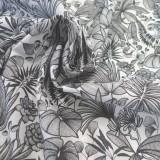 Tissu Sumatra Blanc