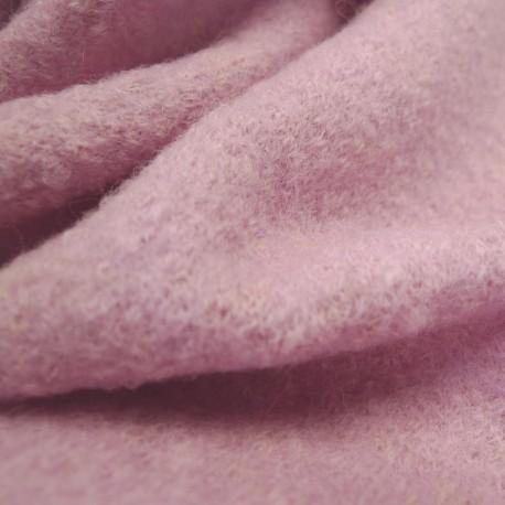 Tissu laine bouillie rose