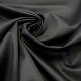 Satin de coton noir Mona