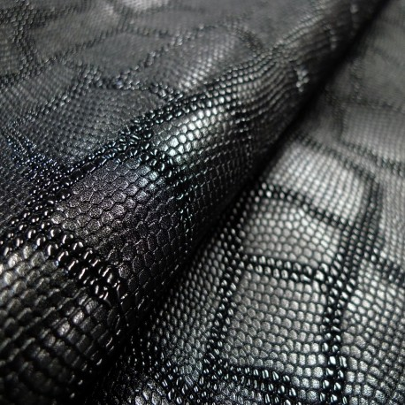 Simili cuir Snake noir