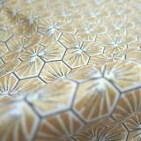 Tissu coton Riad or
