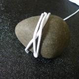 Cordon tricoté blanc