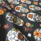 Enduit coton Calavera black