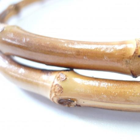 Anses de sac à main Bambou Noirci
