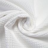 Tissu Nid d'abeilles blanc