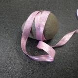 Biais Lurex rose