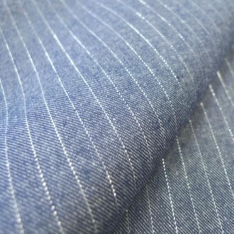 Tissu chambray jeans lurex