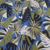Tissu coton Marie-Galante bleu
