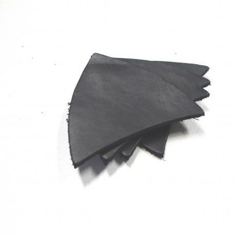 Lot écussons cuir noir