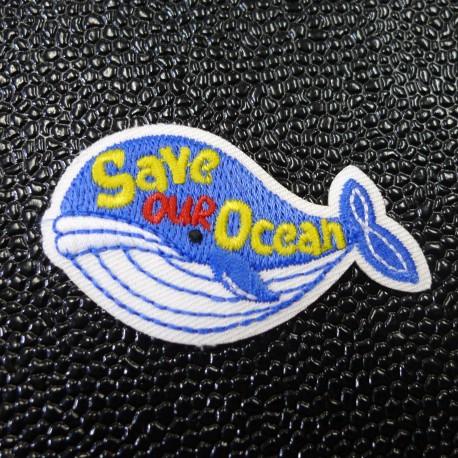 Ecusson brodé Save our Ocean