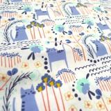 Coton Cats garden blue