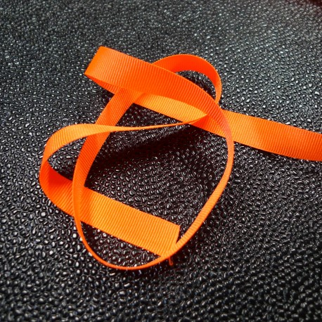 Gros grain 10 mm Orange fluo
