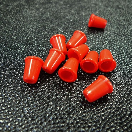 Embout cordon clochette rouge