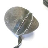 Passepoil simili Perles kaki