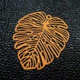 Breloque Monstera orange