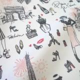Enduit coton J'aime Paris