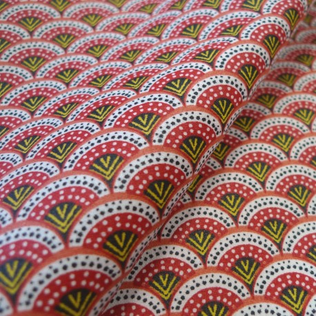 Enduit coton Wazabi rouge