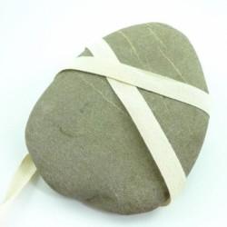 Sergé coton écru 15 mm