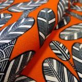 Tissu Elis Wax Design orange