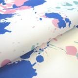 Tissu Ink Splash blanc