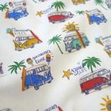 Tissu coton Summer Van