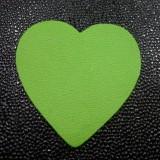 Coeur cuir Vert granny